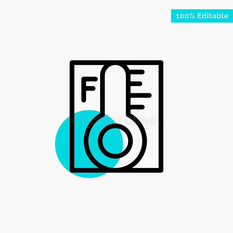 Moln ljust som är regnigt, sol, symbol för vektor för punkt för cirkel för temperaturturkosviktig stock illustrationer