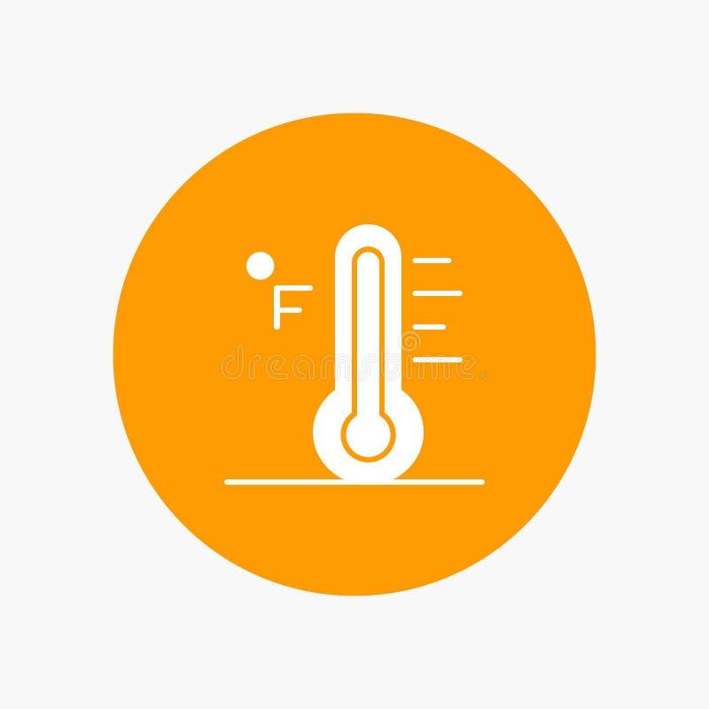 Moln ljust som är regnigt, sol, temperatur stock illustrationer