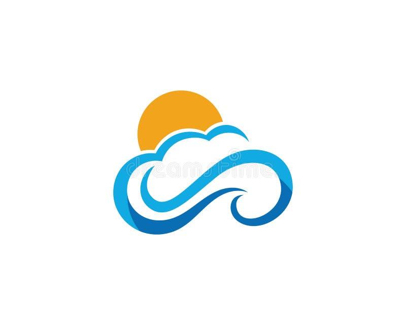 Moln Logo Template Design Icons Vector stock illustrationer