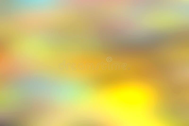Moln, mist och dimma för lutningfotovisning suddigt av mjuka pastellfärgade blandade färger royaltyfri bild