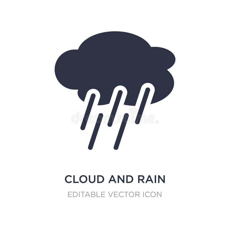 moln- och regnsymbol på vit bakgrund Enkel beståndsdelillustration från väderbegrepp vektor illustrationer