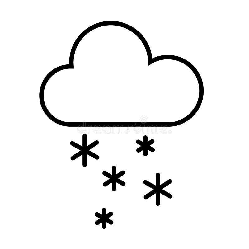 Moln- och snösymbolsvektor royaltyfri illustrationer