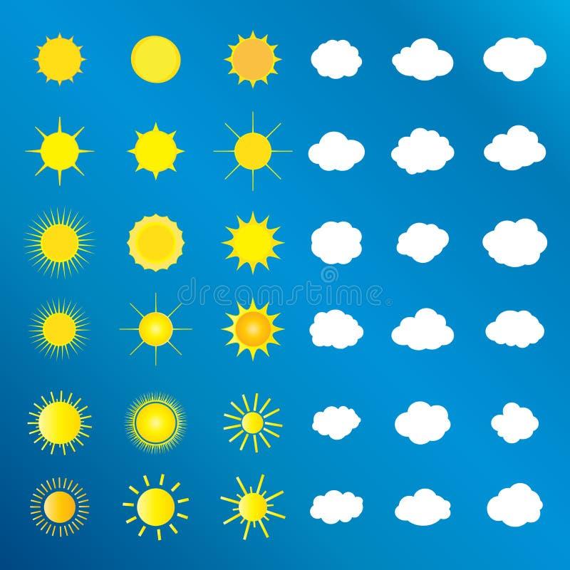 Moln och soluppsättning royaltyfri illustrationer