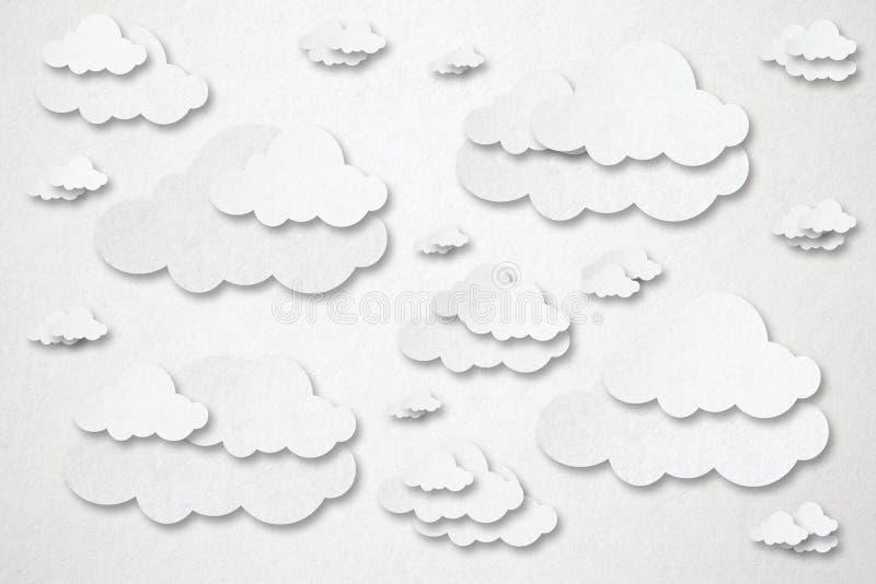 Moln som beräknar på vit bakgrund vektor illustrationer