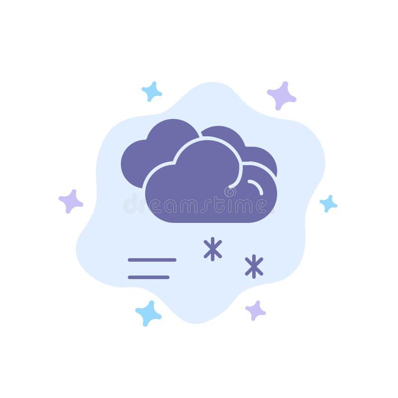 Moln som regnar, förutsett och att regna, blå symbol för regnigt väder på abstrakt molnbakgrund royaltyfri illustrationer