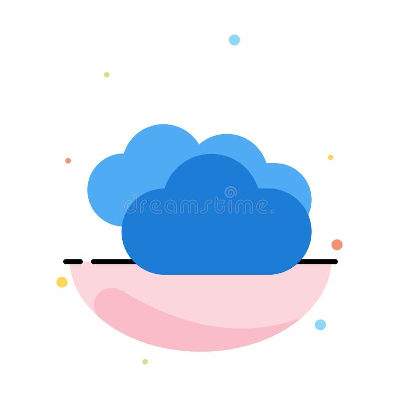 Moln som regnar, förutsett och att regna, för färgsymbol för regnigt väder abstrakt plan mall stock illustrationer