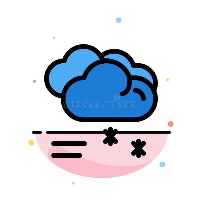 Moln som regnar, förutsett och att regna, för färgsymbol för regnigt väder abstrakt plan mall vektor illustrationer