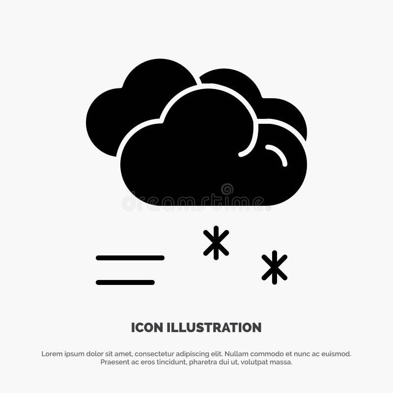 Moln som regnar, förutsett och att regna, för skårasymbol för regnigt väder fast vektor stock illustrationer