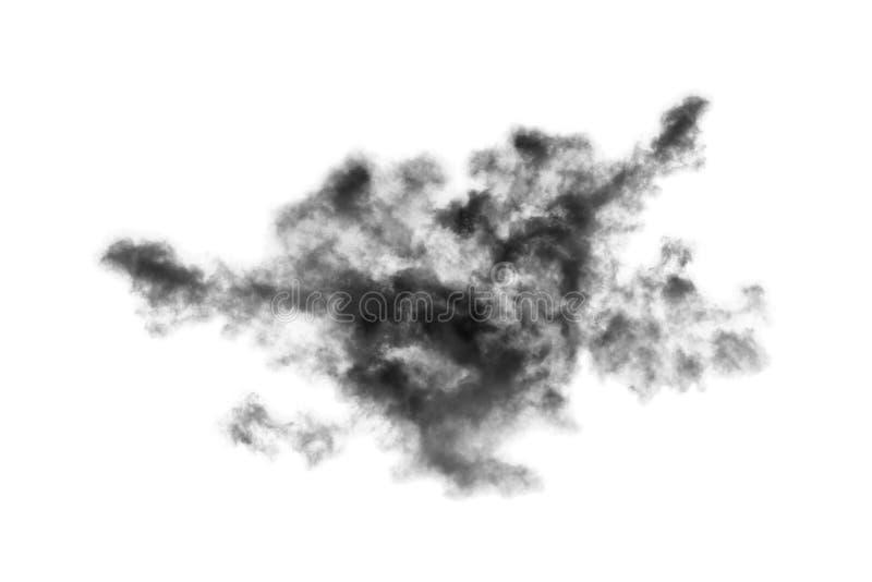 Molnet som isoleras p? vit bakgrund, r?ker texturerad abstrakt svart royaltyfria bilder