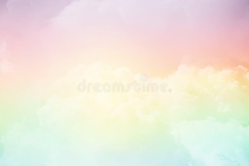 Molnig himmel för fantasi med lutningfärg, abstrakt bakgrund för natur royaltyfri foto