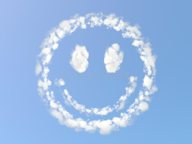 molnigt leende royaltyfri illustrationer