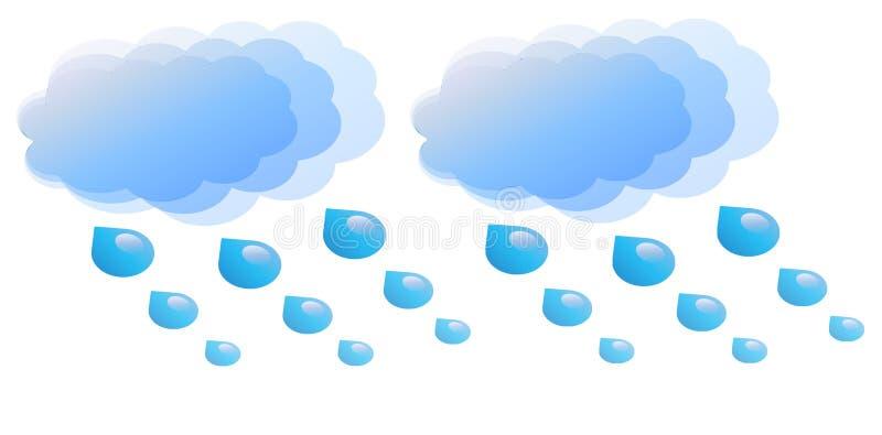 molnigt och regnigt stock illustrationer