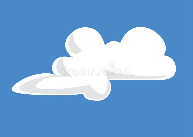 Molnillustrationen - moln skissa - fördunkla teckningen royaltyfri illustrationer