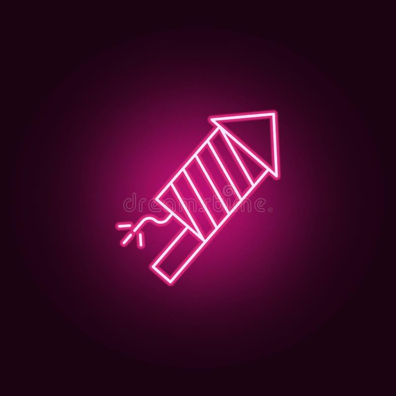 Molnlinje neonsymbol Best?ndsdelar av reng?ringsdukupps?ttningen Enkel symbol f?r websites, reng?ringsdukdesign, mobil app, infor royaltyfri illustrationer
