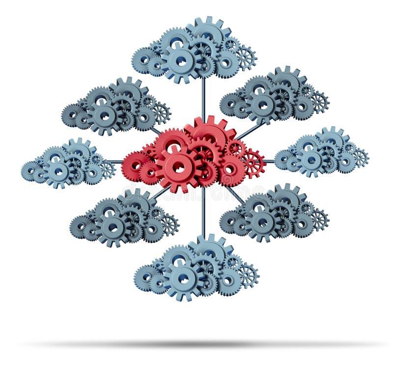 Molnnätverk royaltyfri illustrationer