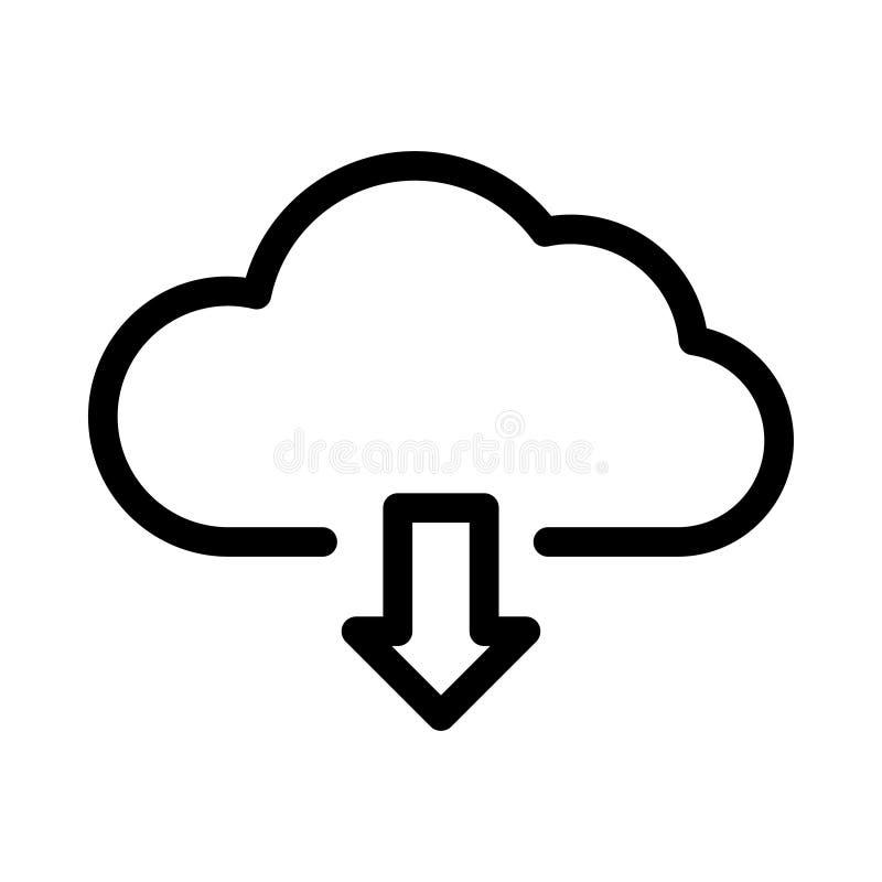 molnnedladdningsymbol vektor illustrationer