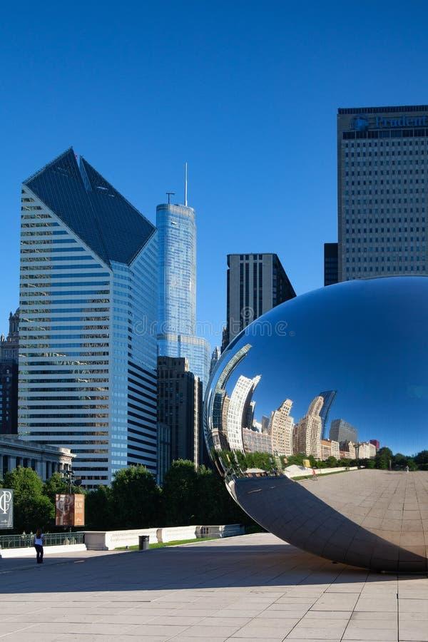 Molnport, den berömda offentliga skulpturen, Chicago, USA fotografering för bildbyråer