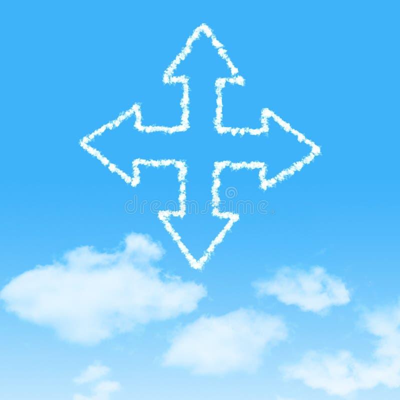 molnsymbol med design på blå himmel arkivbilder