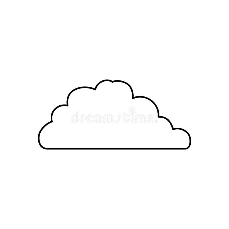 Molnvädersymbol royaltyfri illustrationer