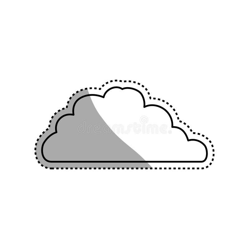 Molnvädersymbol stock illustrationer