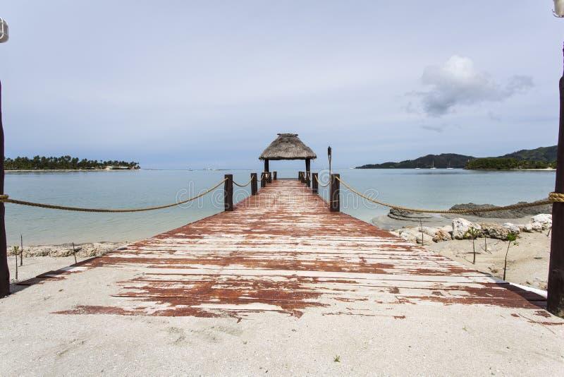 Molo del Fijian immagine stock