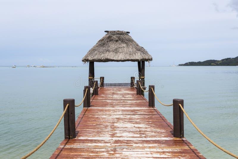 Molo del Fijian fotografia stock libera da diritti