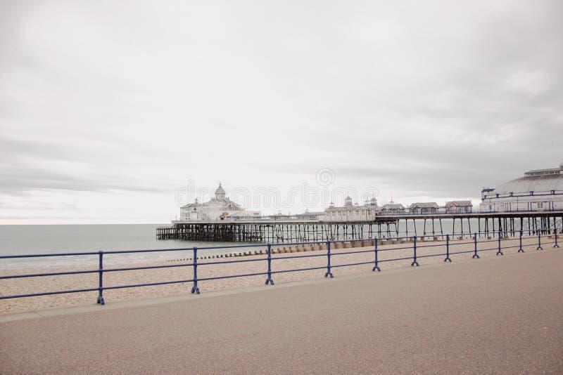 Molo a Eastbourne, Regno Unito immagine stock libera da diritti