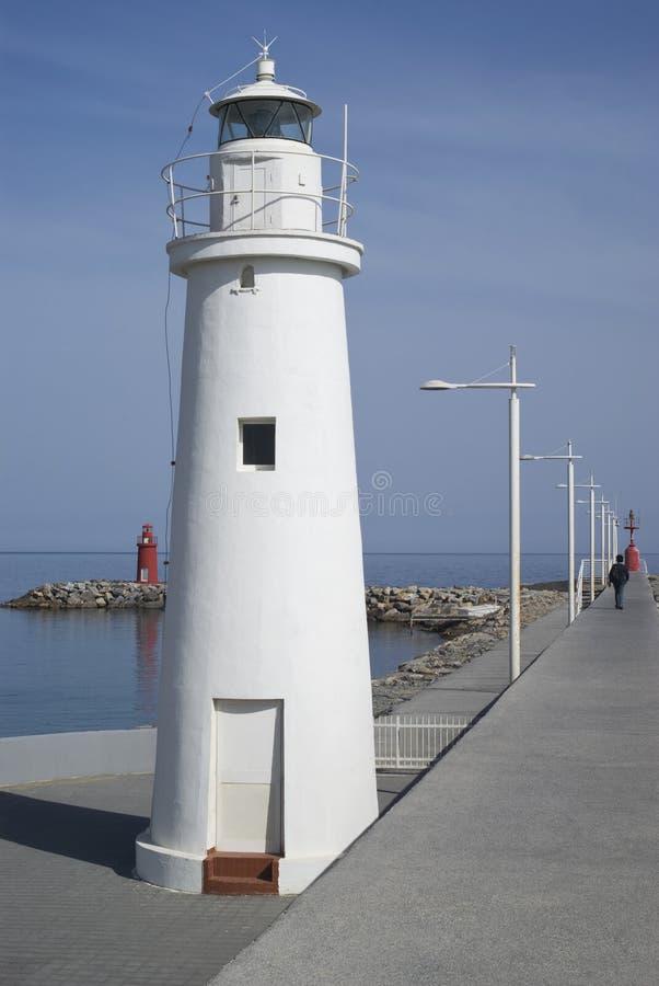 Molo latarnia morska fotografia stock
