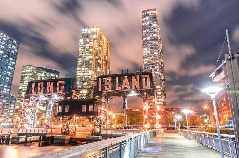Molo Long Island blisko kętnara placu stanu parka - podgrodzie Qu zdjęcia stock