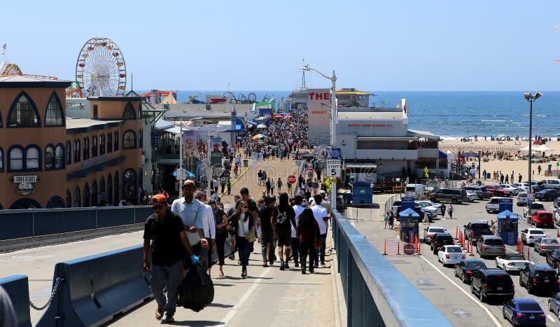 Molo na Snata Monica plaży, Kalifornia obraz royalty free