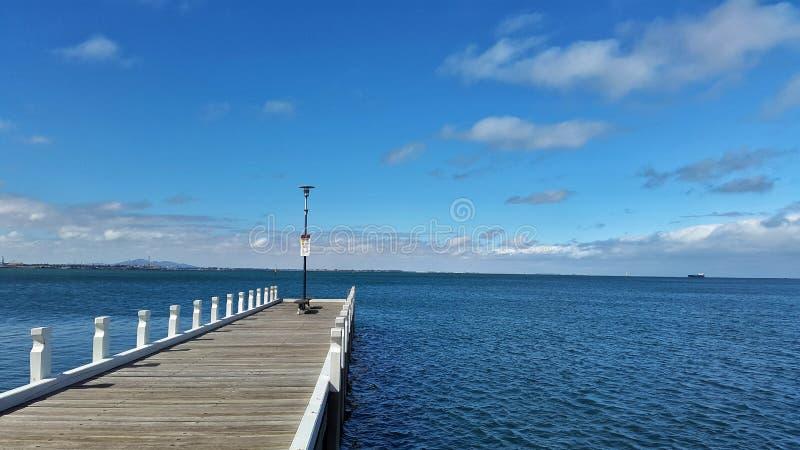 Molo przy Geelong VIC Australia obrazy royalty free