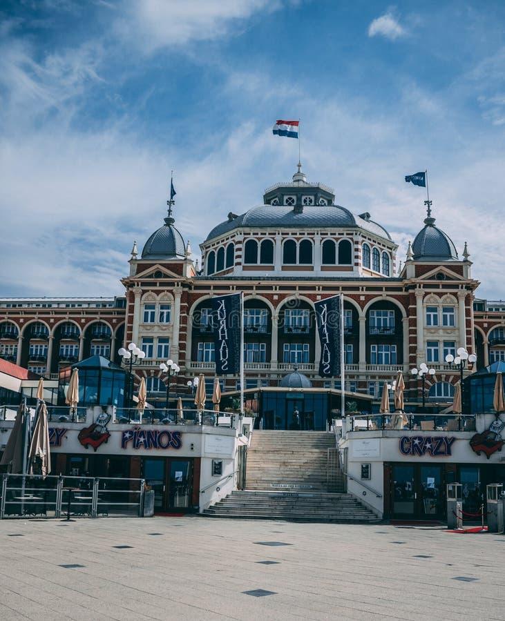 Molo Scheveingen Haga w holandiach zdjęcie royalty free