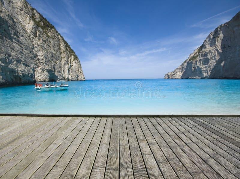 Molo sulla spiaggia immagine stock libera da diritti