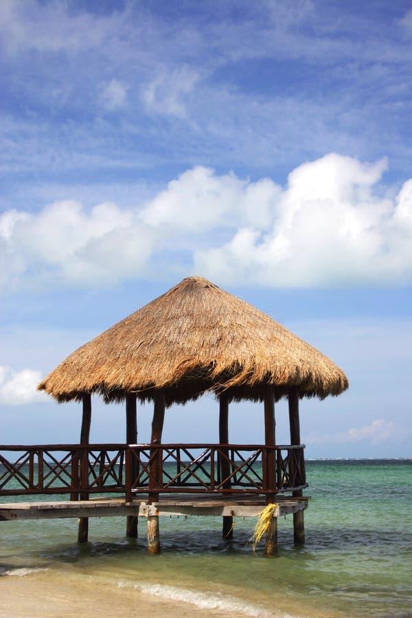 Molo tropicale fotografia stock