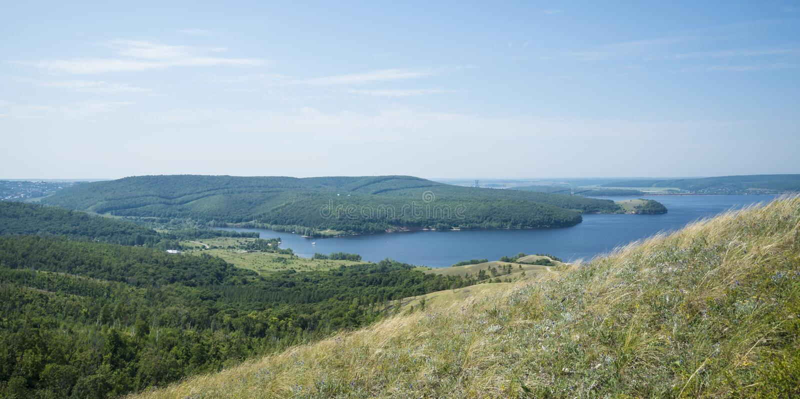 Molodetskiy Kurgan. Attraction of the Samara region. On a Sunny summer day stock photography