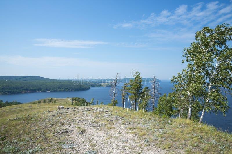 Molodetskiy Kurgan. Attraction of the Samara region. On a Sunny summer day royalty free stock image
