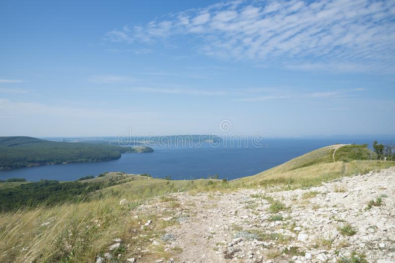 Molodetskiy Kurgan. Attraction of the Samara region. On a Sunny summer day stock photos