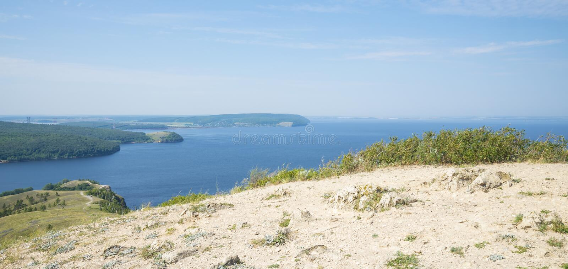 Molodetskiy Kurgan. Attraction of the Samara region. On a Sunny summer day stock image