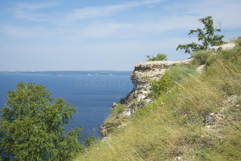 Molodetskiy Kurgan. Attraction of the Samara region. On a Sunny summer day royalty free stock images