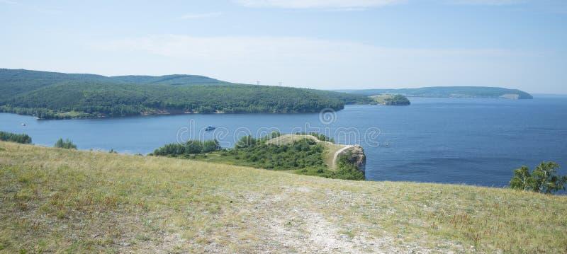 Molodetskiy Kurgan. Attraction of the Samara region. On a Sunny summer day royalty free stock photos