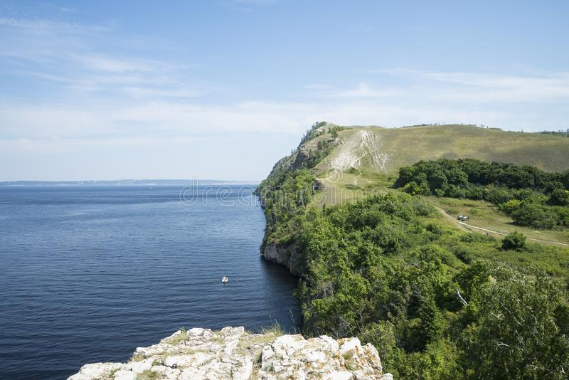 Molodetskiy Kurgan. Attraction of the Samara region. On a Sunny summer day stock images