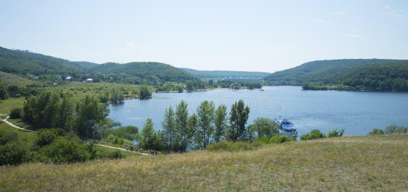 Molodetskiy Kurgan. Attraction of the Samara region. On a Sunny summer day stock photo