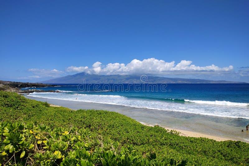 Molokai Island Hawaii from Maui royalty free stock photos