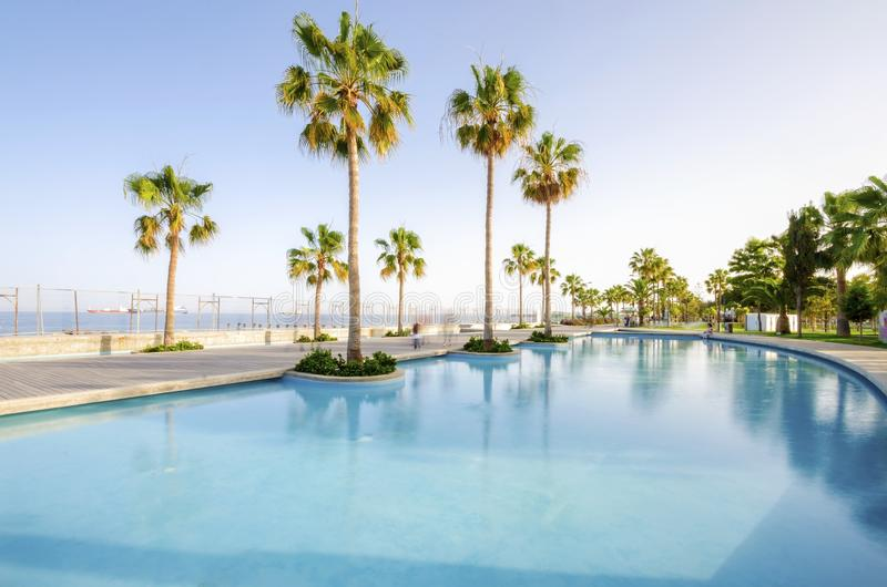 Molos, Limassol, Zypern lizenzfreies stockbild