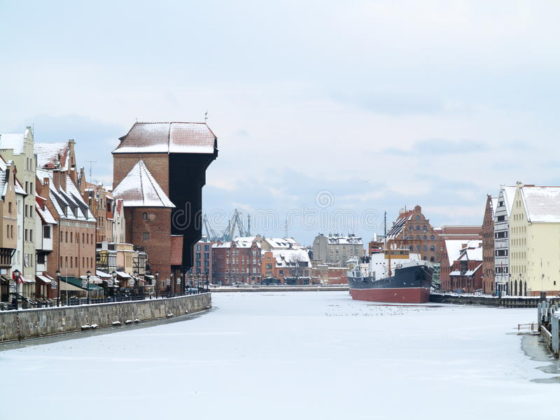 Download Moltawa River And The Crane In Gdansk, Poland Stock Photo - Image: 39315082