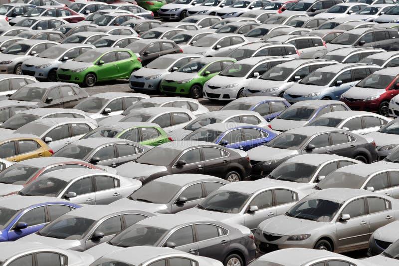 Molte automobili fotografie stock