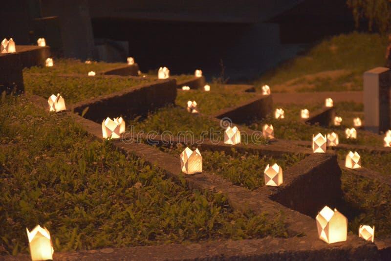 Molte candele immagine stock