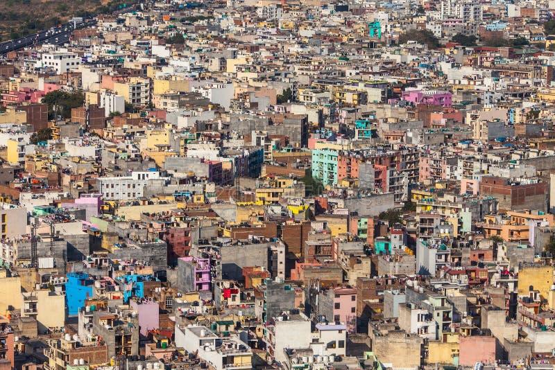 Molte costruzioni colorate, vista superiore immagine stock