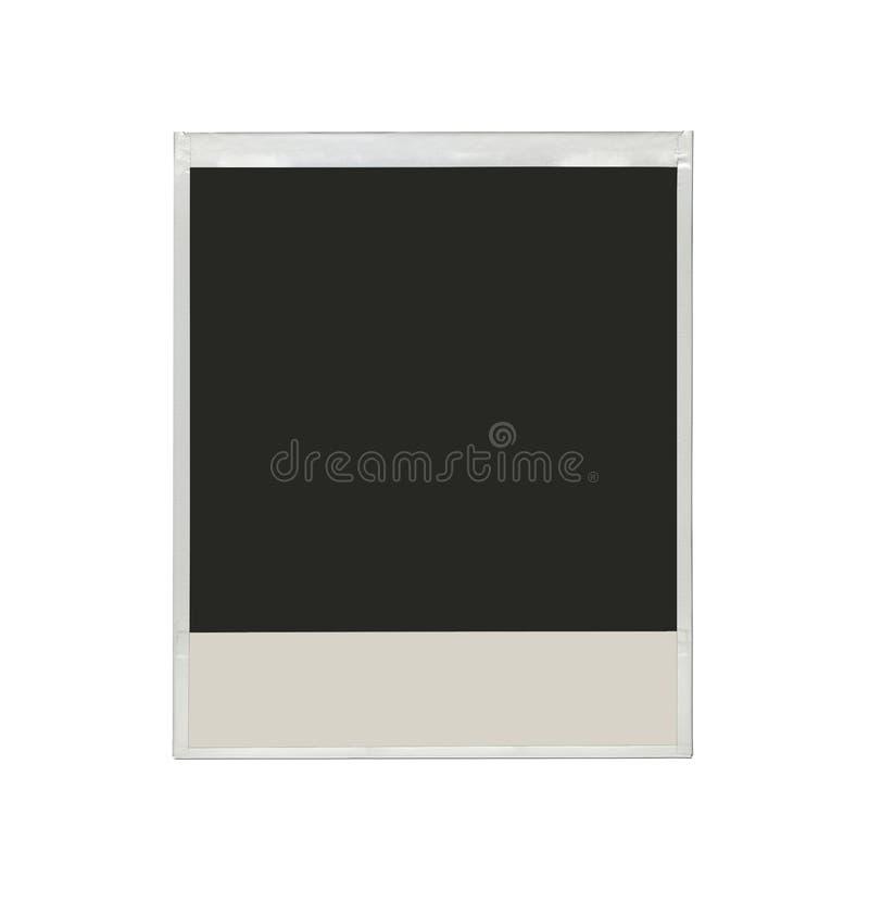 Molte foto della polaroid isolate su un fondo bianco fotografie stock