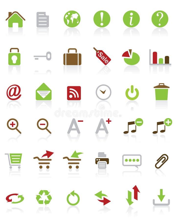 Molte icone del Internet di vettore royalty illustrazione gratis